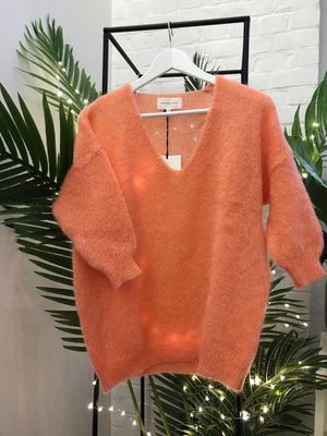 Maison Anje - lerecif papaye orange knitwear