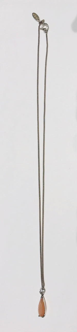 Wouters & Hendrix fine silver necklace with sunstone