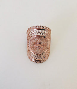 Wouters & Hendrix - pink filigree ring