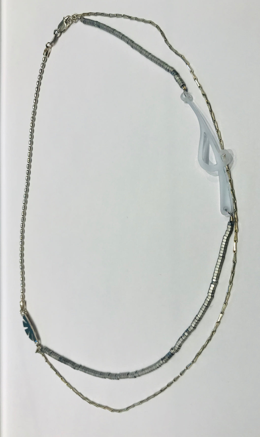 Silver necklace with papyrus