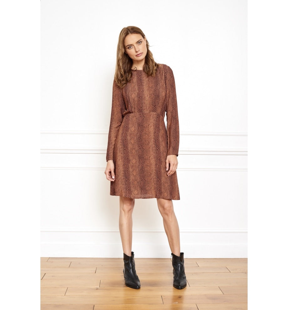 MKT studio rimik dress brown/rust
