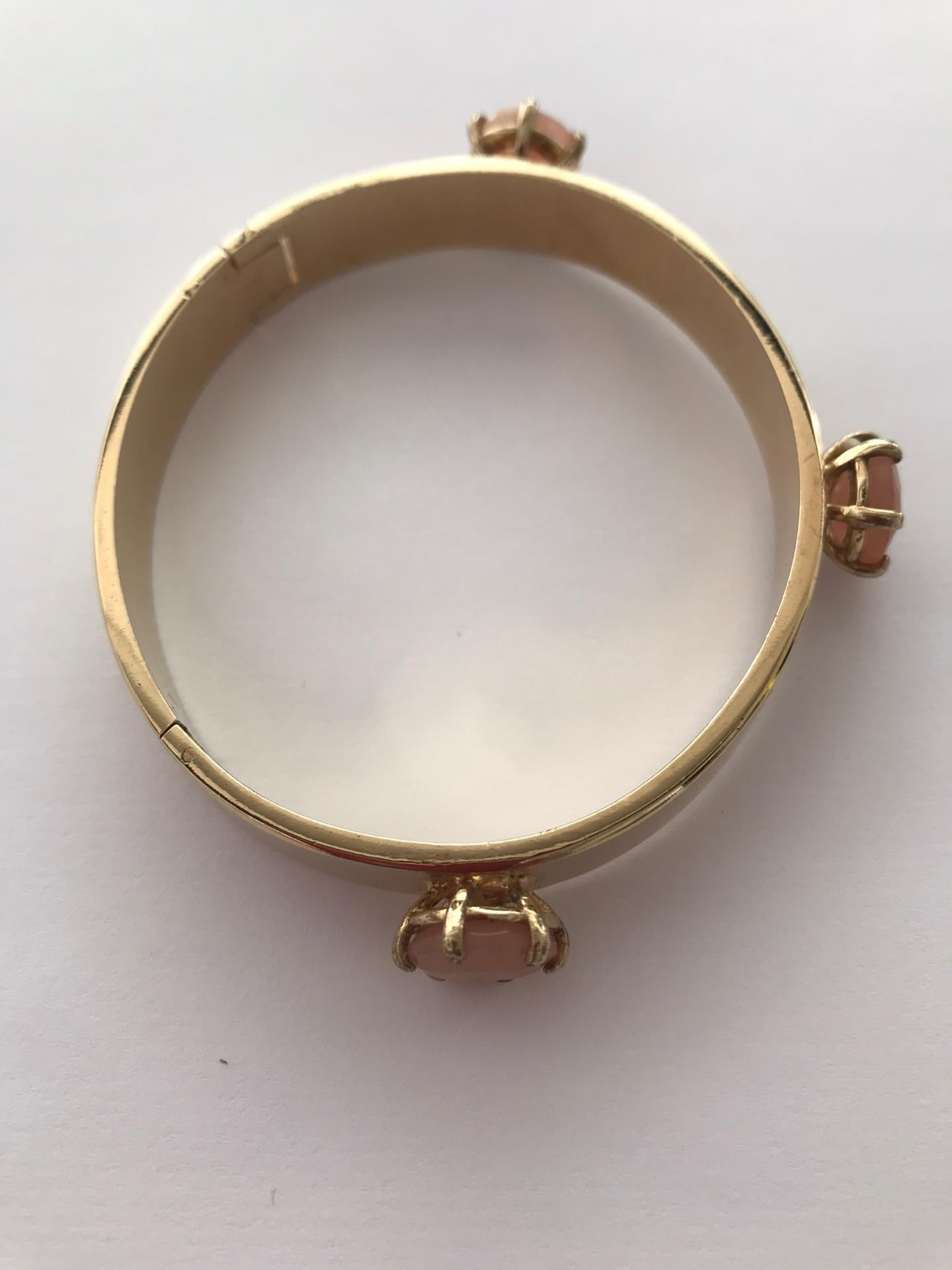 Wouters & Hendrix - gold plated silver bracelet with pink agate