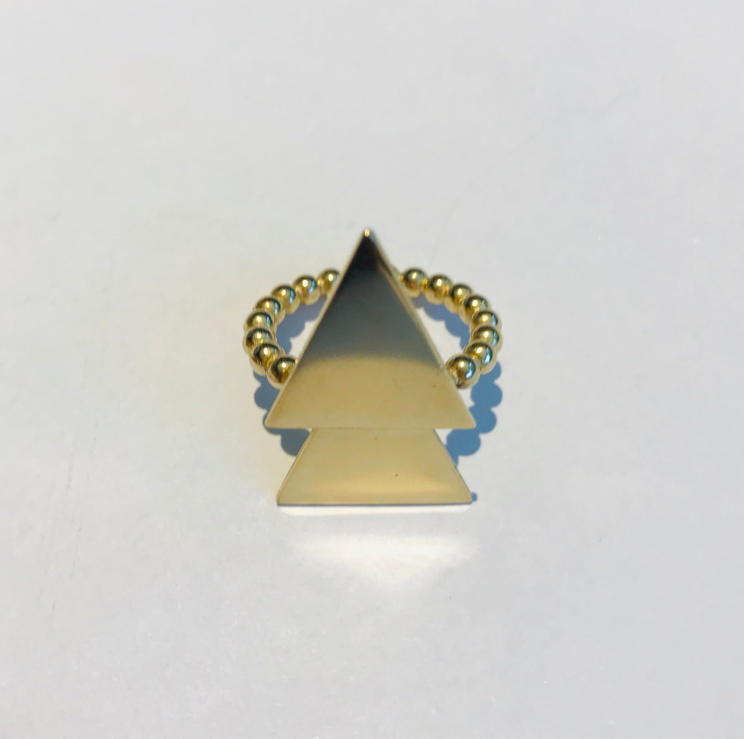 Atelier Elf goldplated silver ring arrow