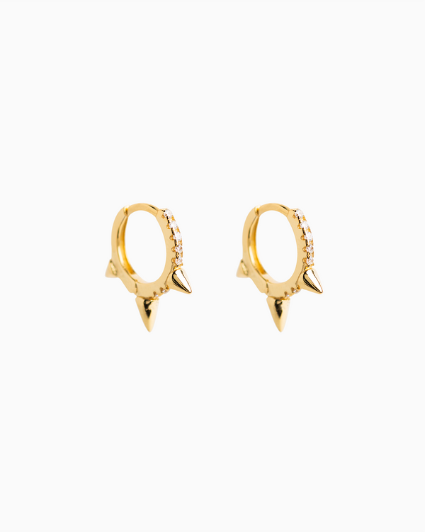 Trieste Pavé Hoops Gold Plated over Silver