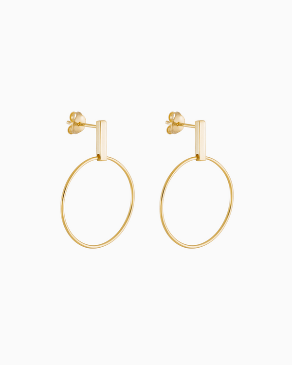 Riva Earrings Gold Plated over Sterling Silver