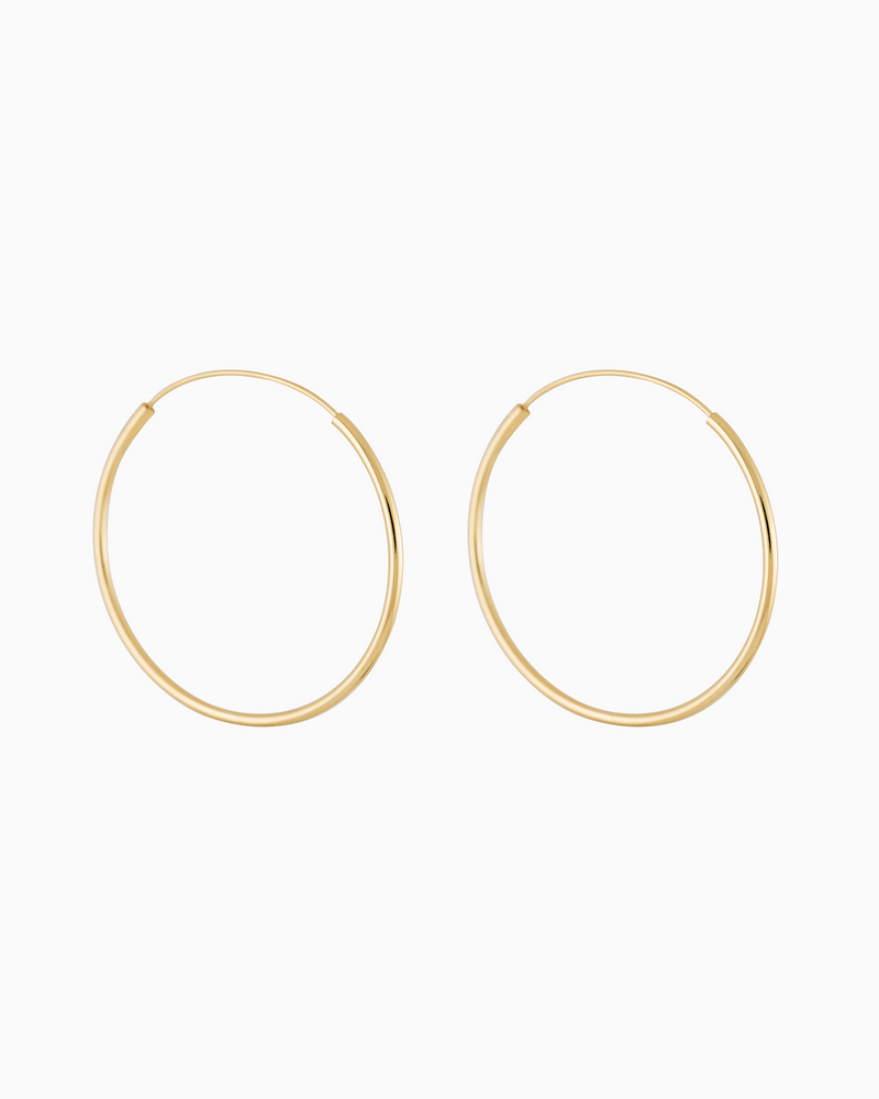 Endless Hoops in Gold Plated Sterling Silver