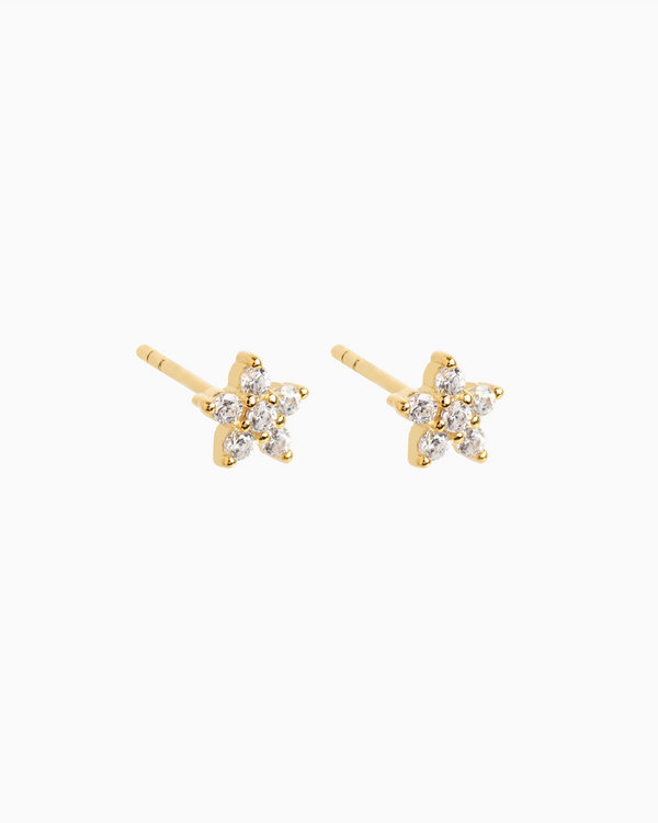 Mini Flower Studs Gold Plated over Sterling Silver