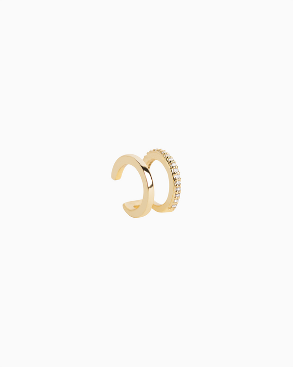 Mini Double Ear Cuff Gold Plated over Sterling Silver