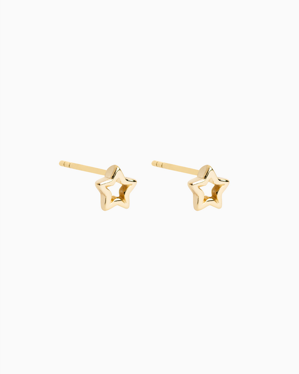 Starline Studs Gold Plated over Sterling Silver