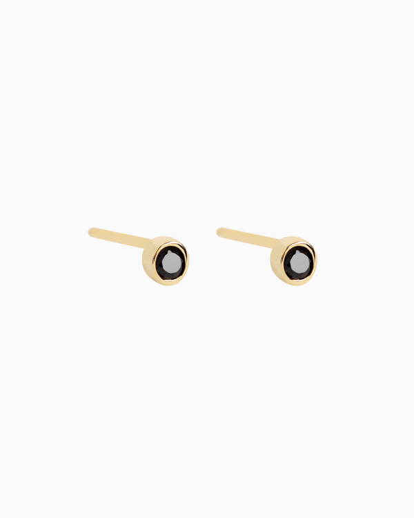 Midi Bezel Studs Gold Plated over Sterling Silver