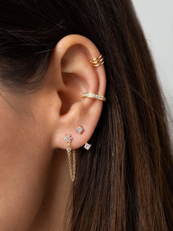Triple Helix Ear Cuff