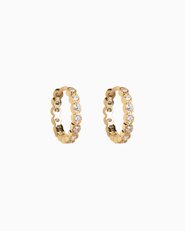 Ella Hoops in Gold Plated Sterling Silver