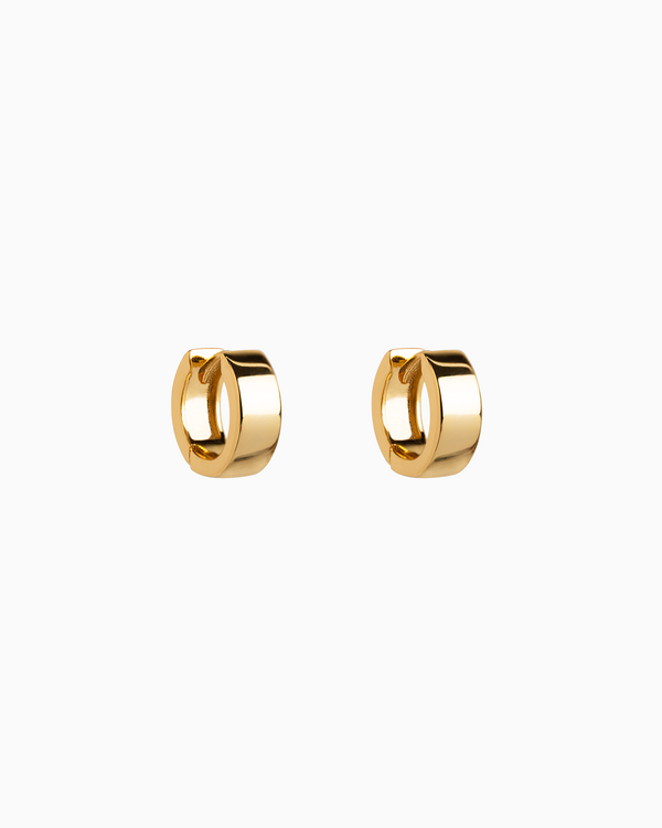 Mini Chunky Hoops in Gold Plated over Sterling Silver