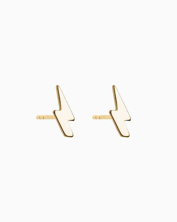 Lightning Bolt Studs in Gold Plated over Sterling Silver