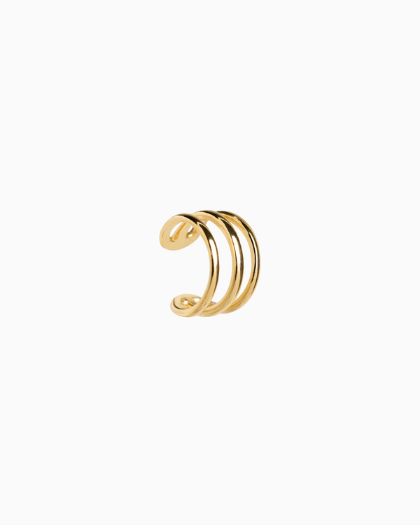 Mini Triple Ear Cuff Gold Plated over Sterling Silver