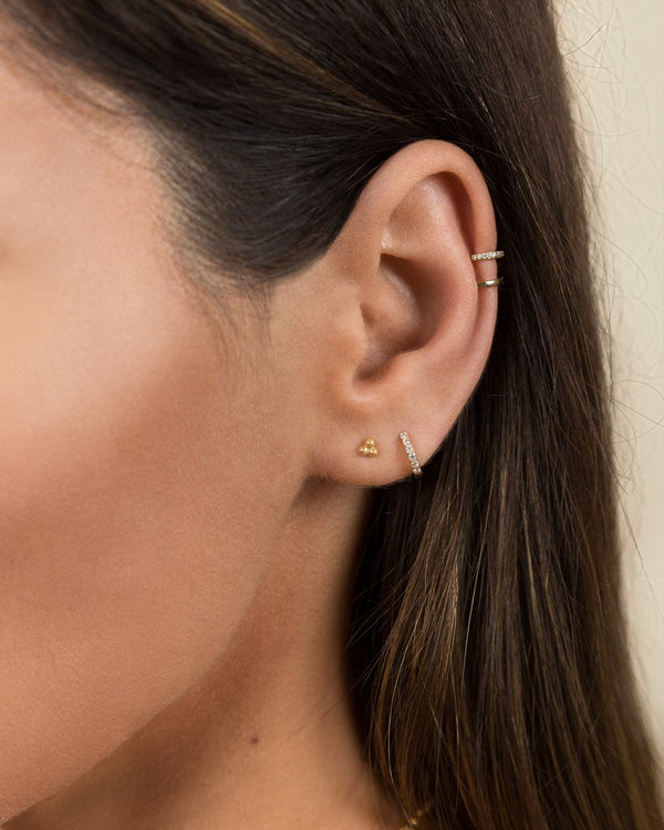 Double Pavé Helix Ear Cuff