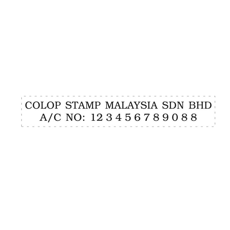 RS18103 Red Rubber Index  Stamp