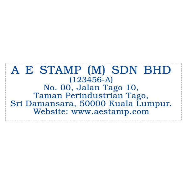 RS28103 Index Red Rubber Stamp