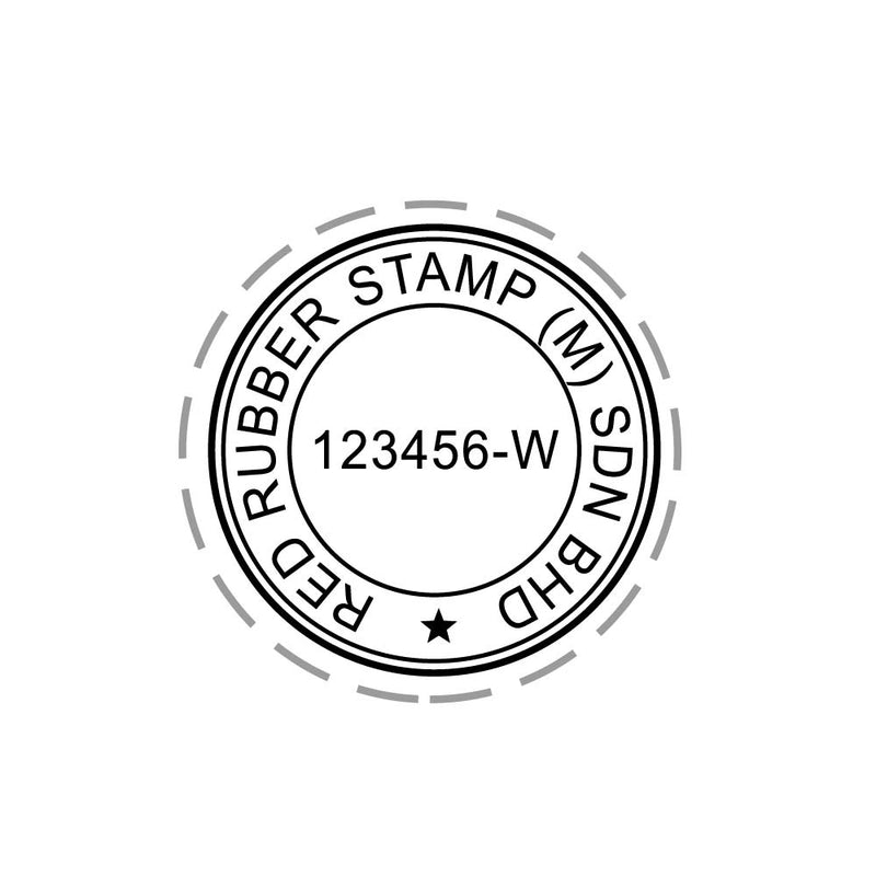 RS25R Index Red Rubber Stamp