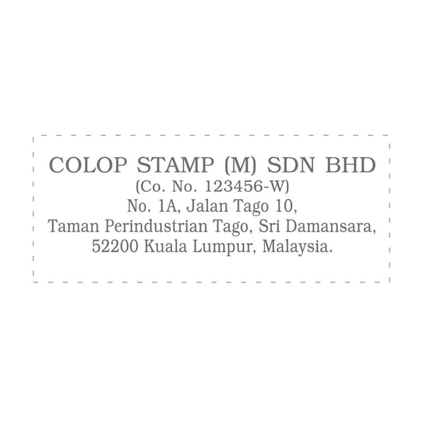 RS2863 Index Red Rubber Stamp
