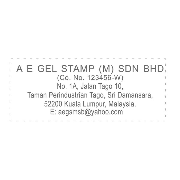 RS2873 Index Red Rubber Stamp