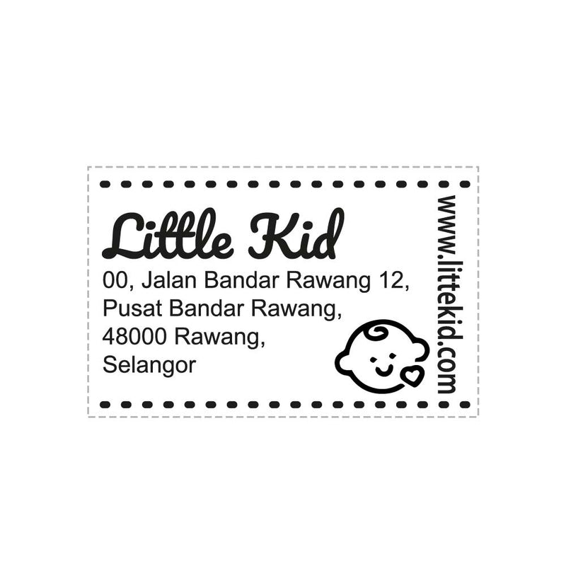 RS53103 Index Red Rubber Stamp