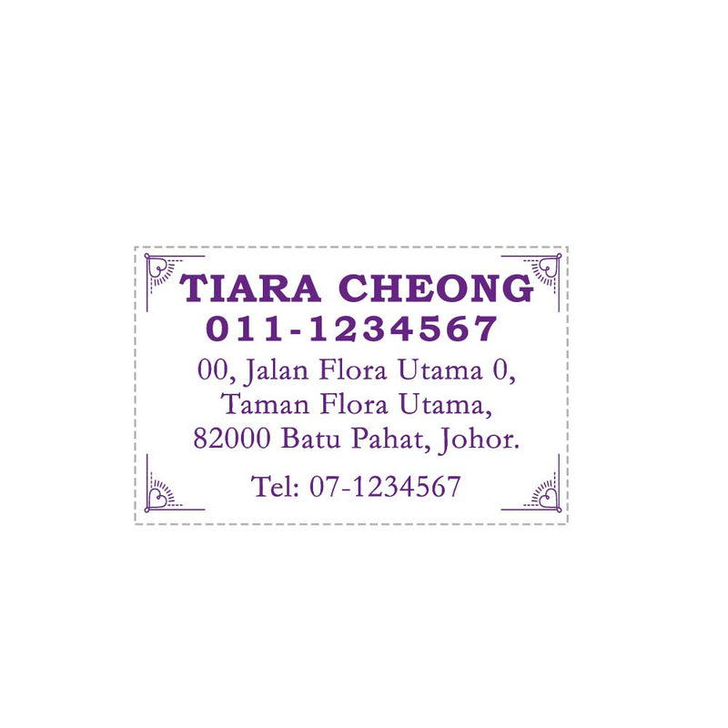 RS5388 Index Red Rubber Stamp
