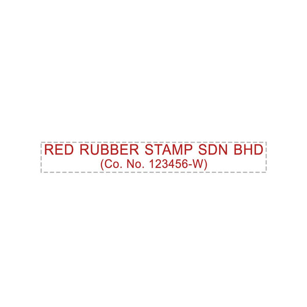 RS870 Index Red Rubber Stamp