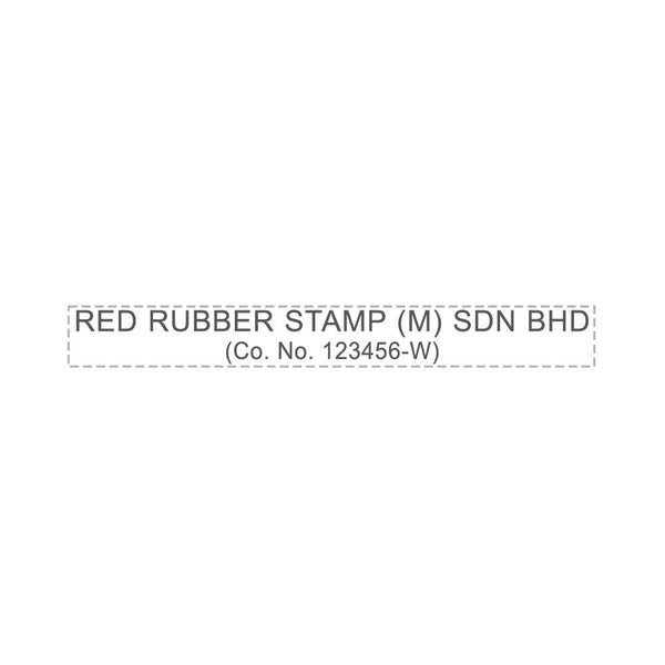 RS885 Index Red Rubber Stamp