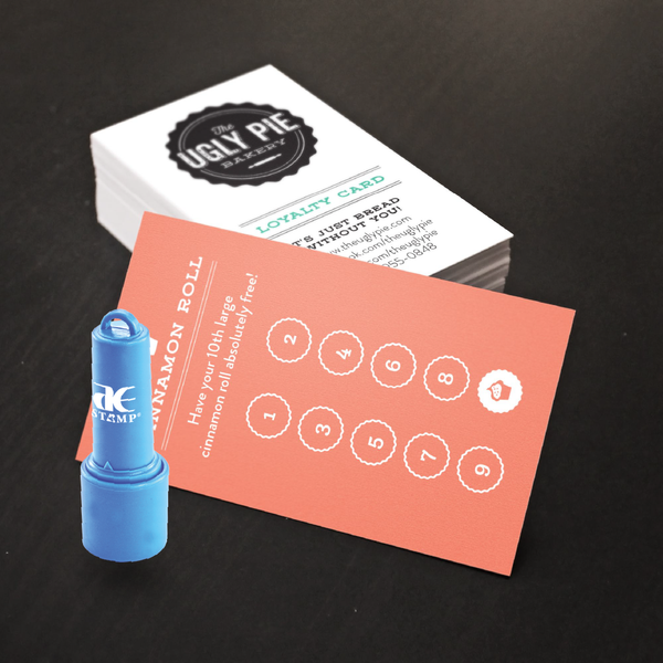 Loyalty Card + Rubber Stamp Bundle | Pre-Inked Stamp