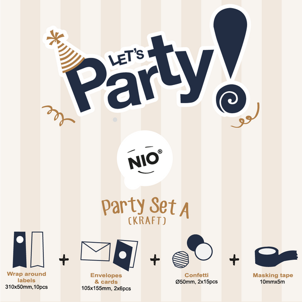NIO Party Set A (Kraft)