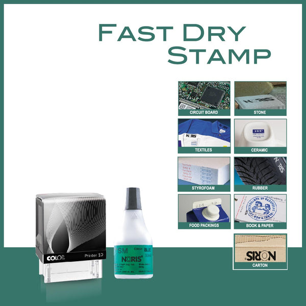 Fast Dry Self Inking Stamp - P10