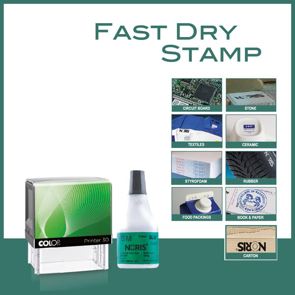 Fast Dry Self Inking Stamp - P30