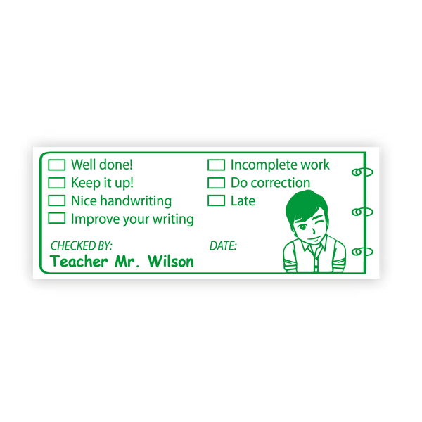 Teacher Review Stamp - Design 07