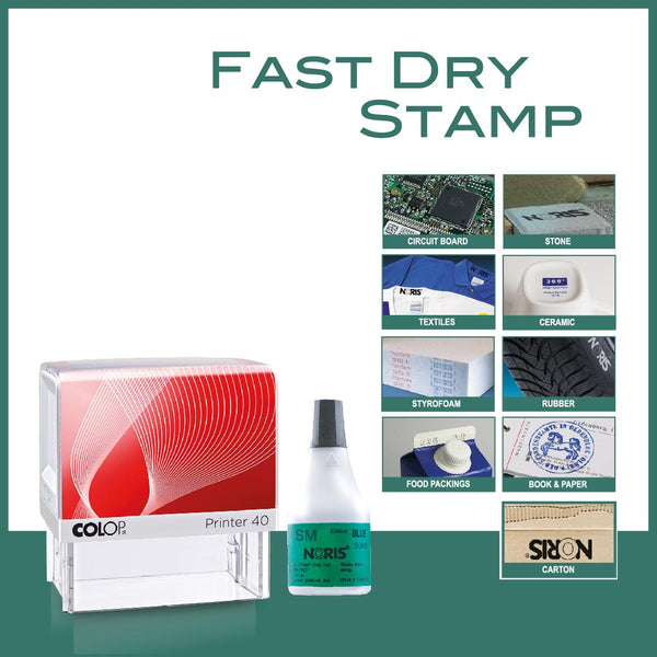 Fast Dry Self Inking Stamp - P40