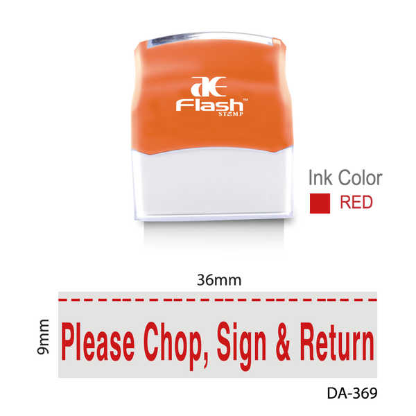 Please Chop, Sign and Return Stamp