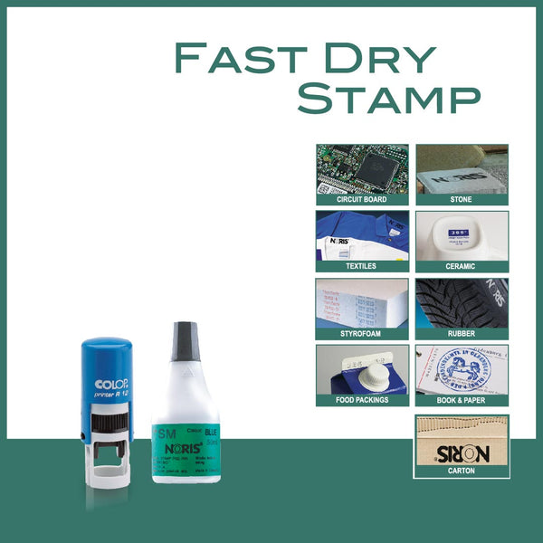 Fast Dry Self Inking Stamp - R12