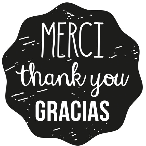 Merci thank you Gracias