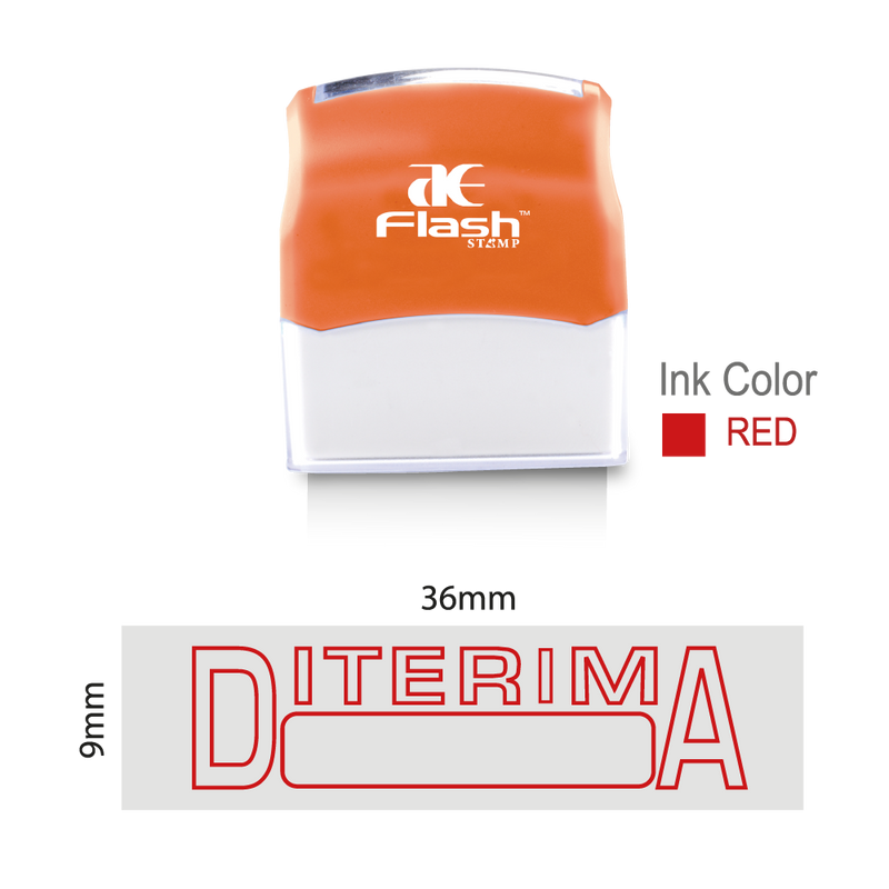 Diterima Stamp (Two Colour)