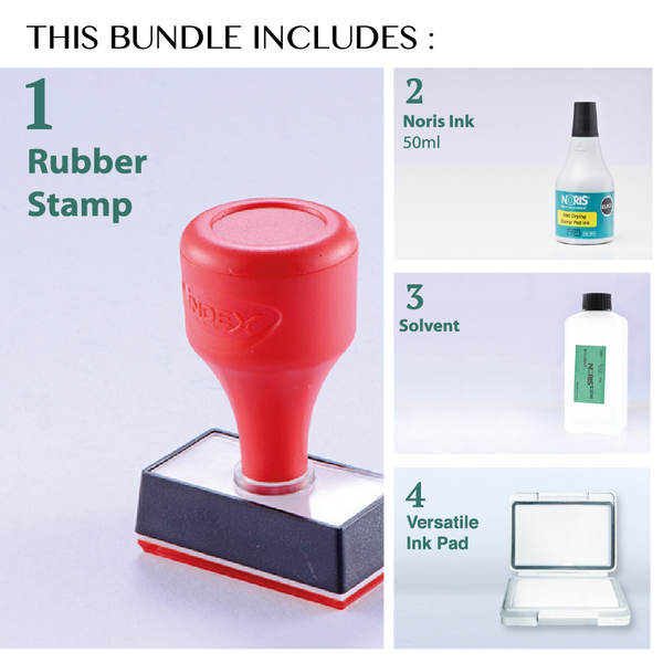 Fast Dry Rubber Stamp - RS830