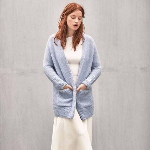 Strickset Longcardigan
