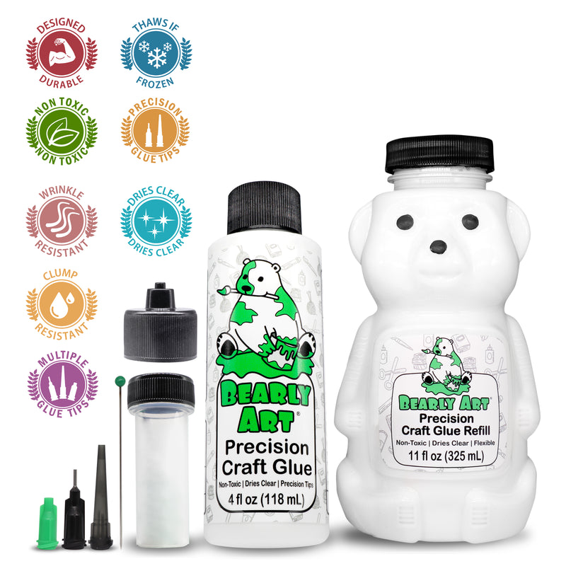Bearly Art Precision Craft Glue - THE BUNDLE