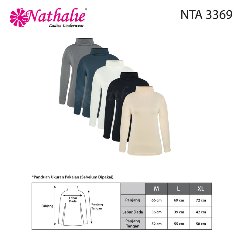 NATHALIE TURTLE NECK TOP ( 1 PCS ) NTA 3369