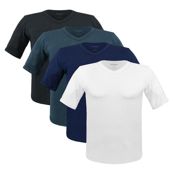 Flyman Men's Tucked V-Neck T-Shirt FMA 3137