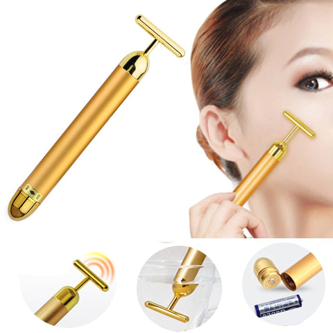 24K Gold Beatuy Bar Facial Massger Massager-pugnent.com