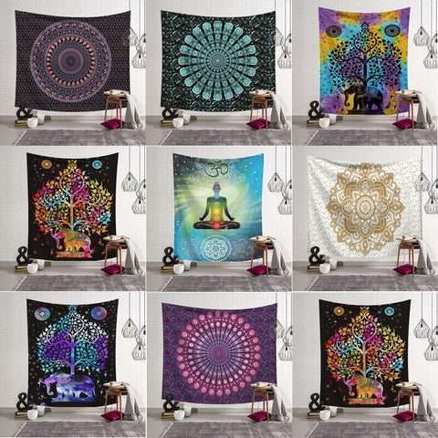 Yoga Tapestry - Meditation Namaste Wall Tapestry-pugnent.com