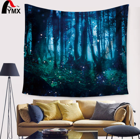 Misty Forest Tapestry -  Forest Wall Tapestry-pugnent.com