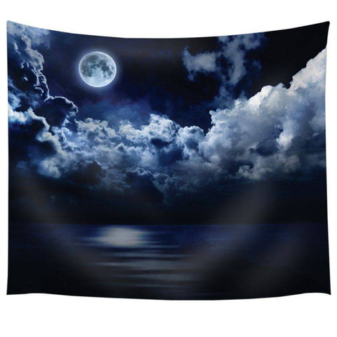 Full Moon Tapestry - Beautiful Starry Night Tapestry-pugnent.com