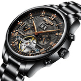 Men's Self-Wind Water Resistant Automatic Skeleton Mechanical Watches-pugnent.com