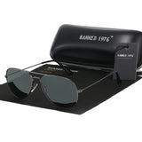 Classic HD polarized metal frame fashion sunglasses For Men-pugnent.com
